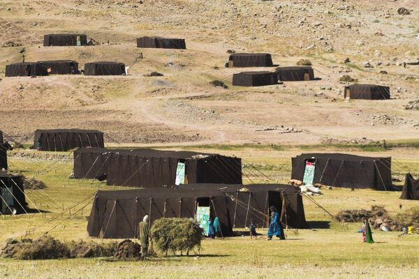 Aimaq nomad camp, Pal-Kotal-i-Guk, between Chakhcharan and Jam, Afghanistan, Asia