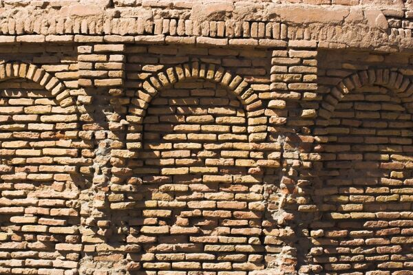 Base of minaret, The Mousallah Complex, Herat, Herat Province, Afghanistan, Asia