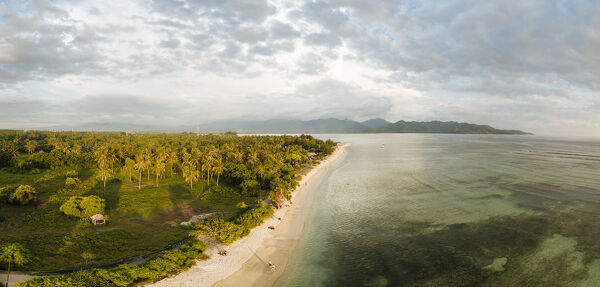 Beach at sunset, Gili Air, Gili Islands, Lombok Region, Indonesia, Southeast Asia, Asia