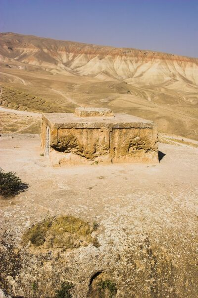 Buddhist stupa carved out of rock, known as Top-I-Rustam (Rustam's throne), near Haibak, Samangan Province, Afghanistan, Asia