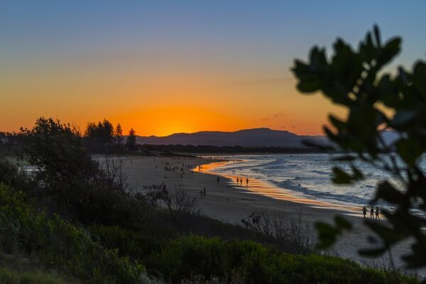 Byron Bay, Clarks Beach at sunset, New South Wales, Australia, Pacific