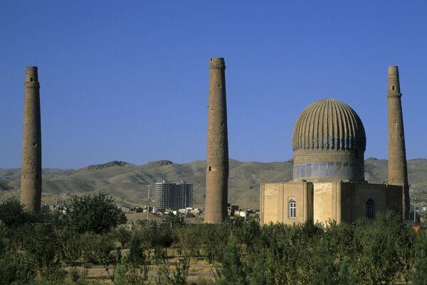 Gaur Shad 's Mausoleum, part of the Mousallah Complex, Herat, Afghanistan, Asia