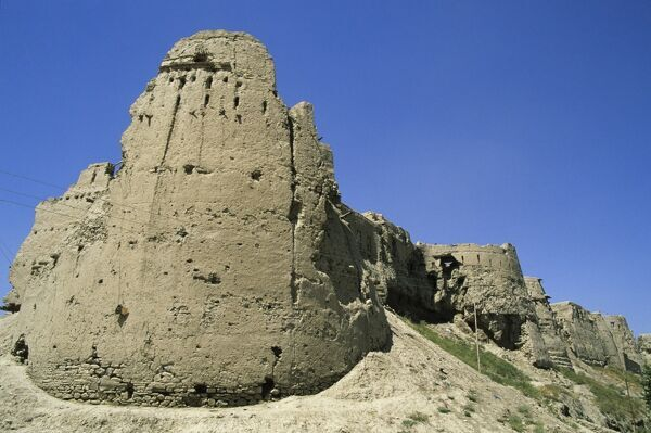 Old city walls of Ghazni, Afghanistan, Asia