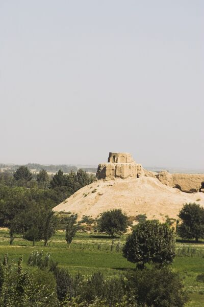 Remains of Buddhist monastery, Balkh (Mother of Cities), Balkh province, Afghanistan, Asia