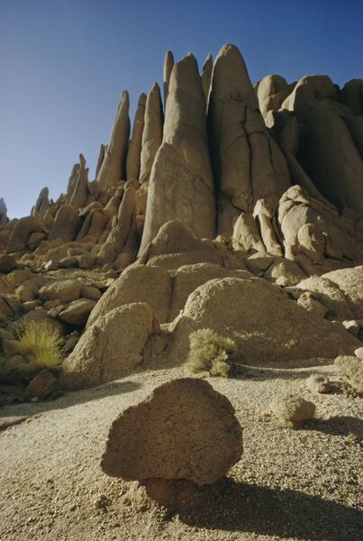 Rock formations, Hoggar mountains, Algeria, North Africa, Africa