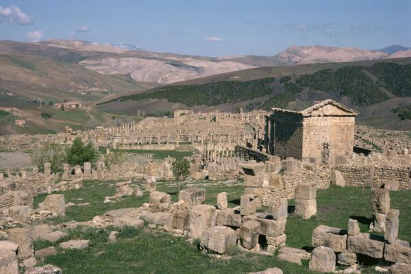 Roman site of old capitol Djemila, UNESCO World Heritage Site, Algeria, North Africa, Africa