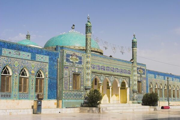 The Shrine of Hazrat Ali, who was assassinated in 661, Mazar-I-Sharif, Balkh province, Afghanistan, Asia
