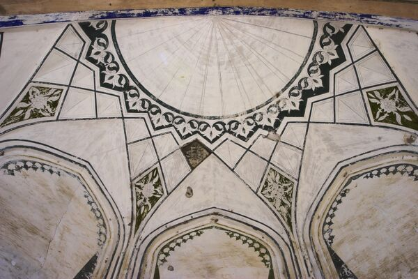 Detail of Timurid shrine of Khwaja Abu Nasr Parsa, Balkh (Mother of Cities), Balkh province, Afghanistan, Asia