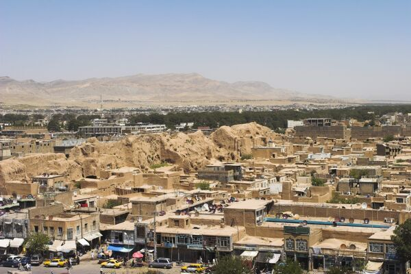 View from The Citadel (Qala-i-Ikhtiyar-ud-din), Herat, Herat Province, Afghanistan, Asia