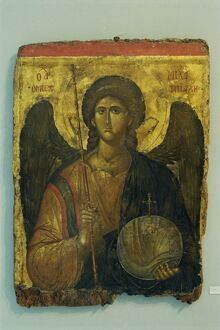 A 14th century icon of Archangel Michael in the Byzantine
