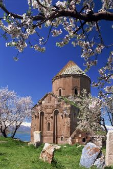 The Armenian church of the Holy Cross on Akdamar Island in Lake Van