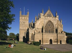 Exeter Cathedral, Exeter, Devon, England, United Kingdom, Europe