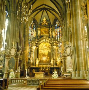 Interior of St. Stephan's Cathedral, Vienna, Austria