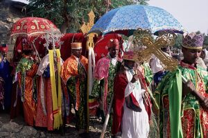 Procession for Christian festival of Rameaux, Axoum (Axum) (Aksum), Tigre region