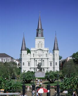 St. Louis Christian cathedral in Jackson Square