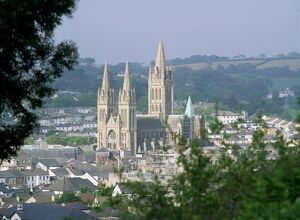 Truro Cathedral and city, Cornwall, England, United Kingdom, Europe
