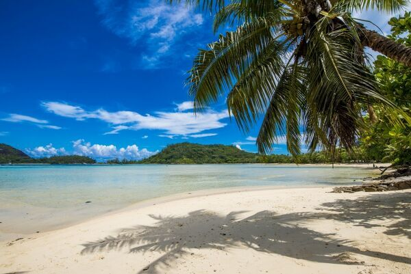 Anse L'Islette Beach, Mahe, Republic of Seychelles, Indian Ocean, Africa