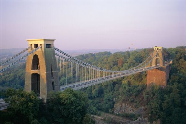 Clifton Suspension Bridge, built by Brunel, Bristol, Avon, England, United Kingdom (U