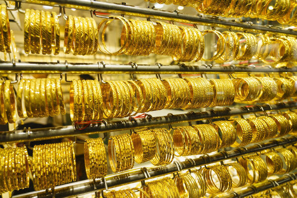 The Gold Souk, Al Ras, Deira, Dubai, United Arab Emirates, Middle East