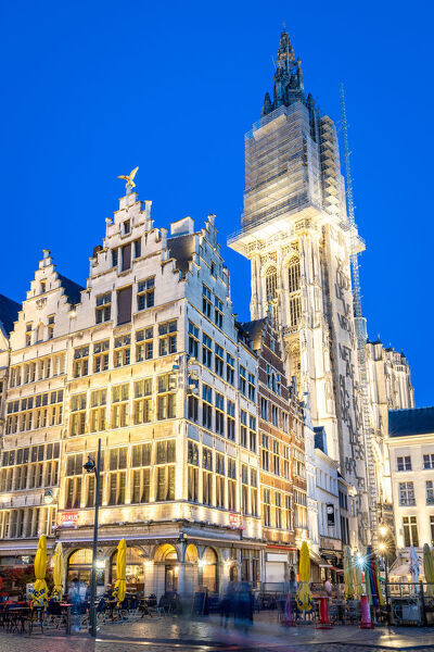 The Grote Markt in the historic centre or Antwerp, Belgium, Europe