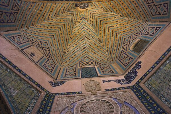 Detail of the hallway, Sufi shrine of Gazargah, Herat, Herat Province, Afghanistan, Asia