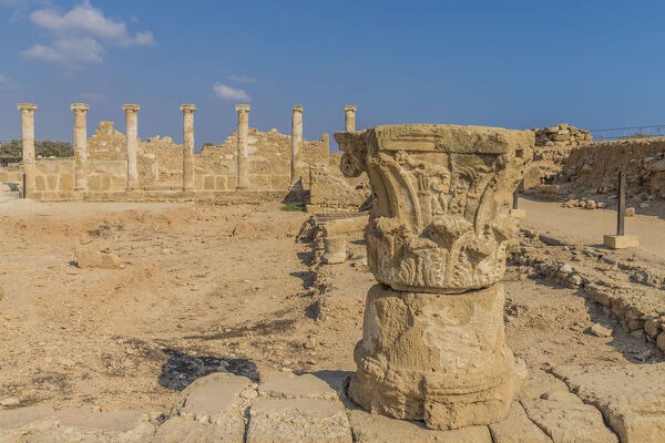 The House of Theseus in Paphos Archaeological Park, UNESCO World Heritage Site, Paphos