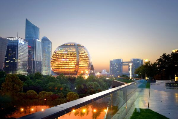 Jianggan district continues to fascinate with modern skyscrapers and sphere-shaped