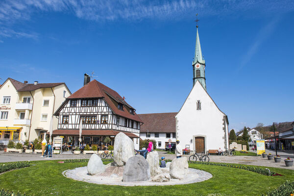 Little church in Unteruhldingen on Lake Constance, Germany, Europe