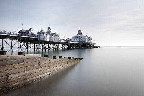 Long exposure image of Eastbourne Pier, Eastbourne, East Sussex, England, United Kingdom, Europe