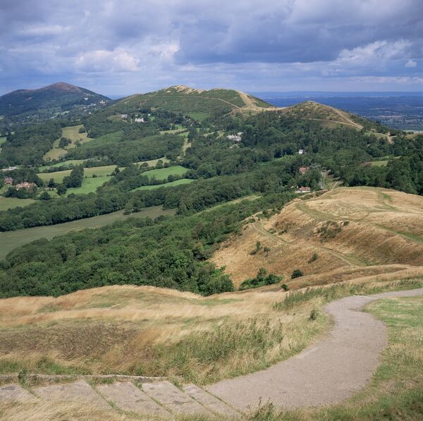 Malvern Hills, from British Camp, Hereford & Worcester, England, United Kingdom, Europe