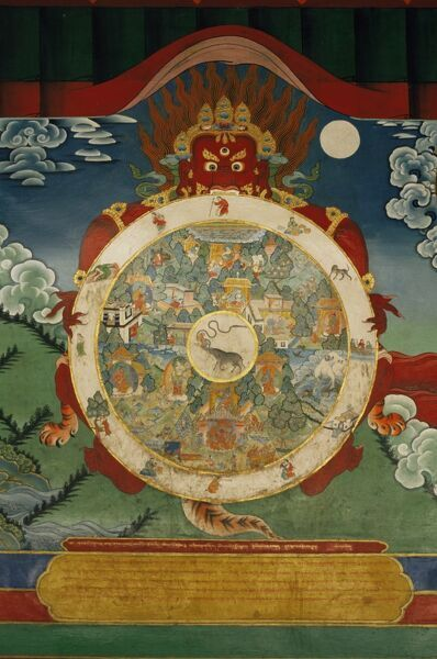 Wheel of Life, Tibetan Art, China, Asia
