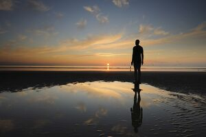 Antony Gormley sculpture, Another Place, Crosby Beach, Merseyside, England, United Kingdom