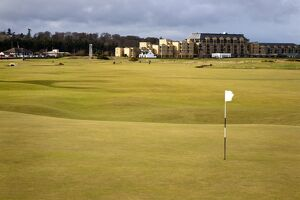 Eighteenth Green at The Old Course, St. Andrews, Fife, Scotland, United Kingdom, Europe