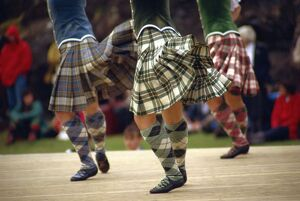 Highland dancing competition, Skye Highland Games, Portree, Isle of Skye