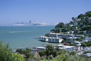 Sausalito, a town on San Francisco Bay in Marin County