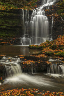 scalebor force waterfall autumn yorkshire dales