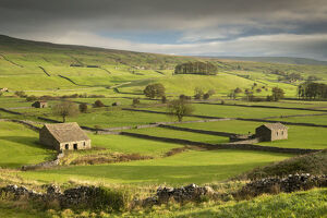 stone barns dry stone walls rolling countryside