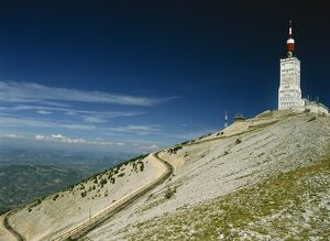 The summit of Mont Ventoux in Vaucluse, Provence, France, Europe